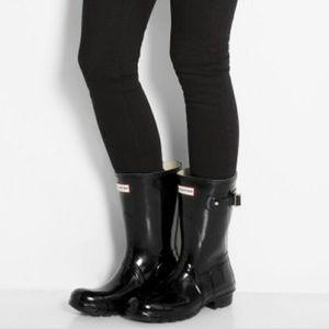 •Hunter• Short Glossy Rain Boots